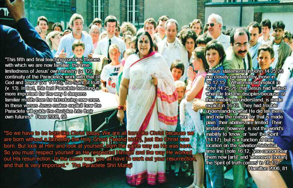 "Shri Mataji Nirmala Devi (1923-2011) was Christian by birth, Hindu by marriage, and Paraclete by duty."" title="