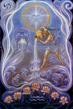 Man with Pitcher of Water, the symbol of the Age of Aquarius