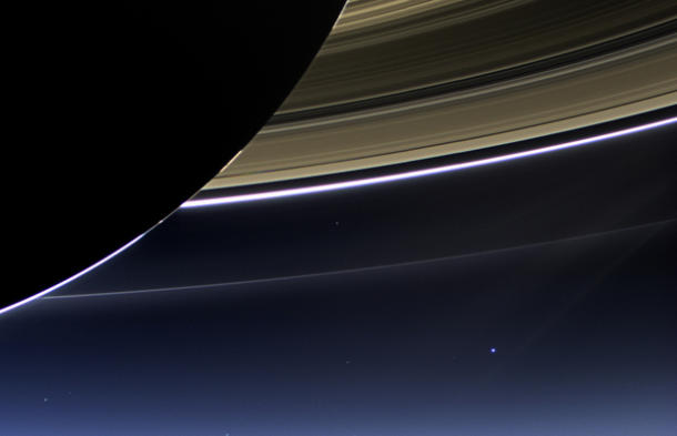 Earth a pale blue dot