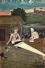 The son of a Muslim weaver, Kabir was born in 1440