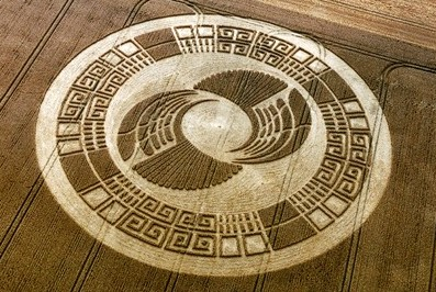 "Mayan Wheel crop circle"" alt="