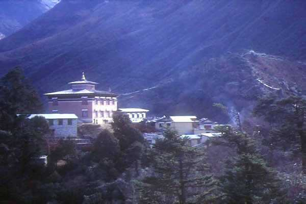 Remote Buddhist monastary at Tibet-Nepal border